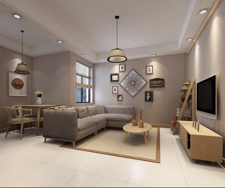 现代简约风格50平米小户型室内装修效果图