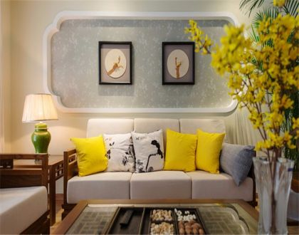 102平新中式三居室装修效果图