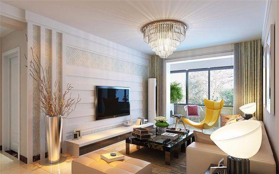 安泰成品119M²现代简约楼房装修效果图