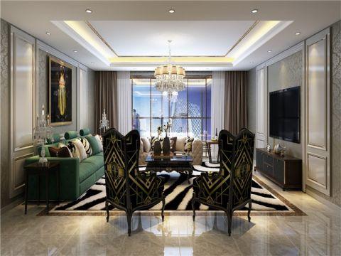 合肥巴黎都市200平新古典风格别墅装修效果图案例