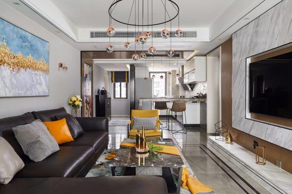 华润橡树湾140平四室两厅两卫现代都市风格实景图