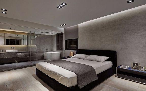 低调优雅卧室床构造图