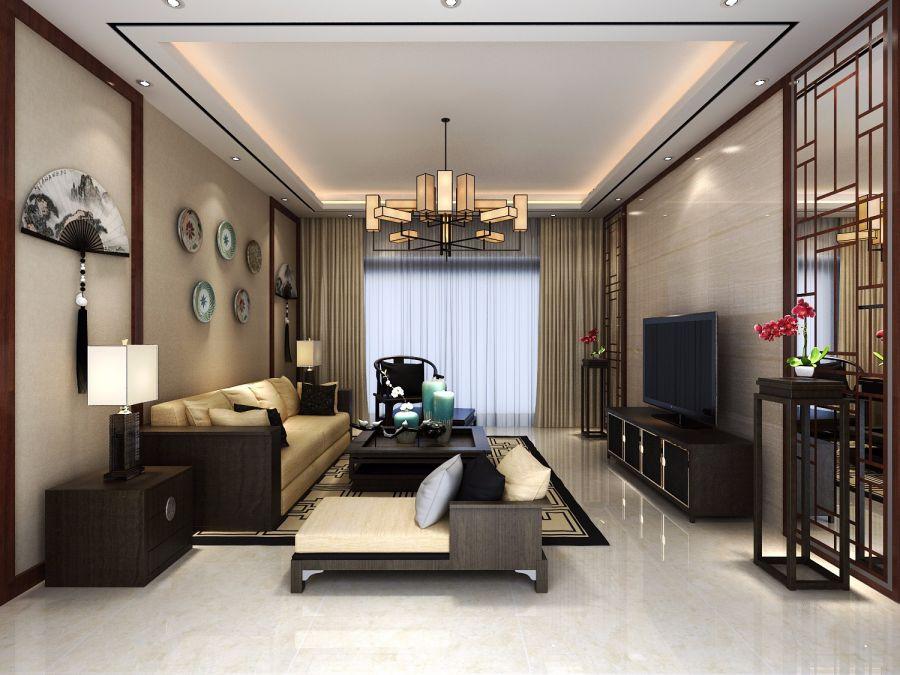 178平新中式三居室装修效果图