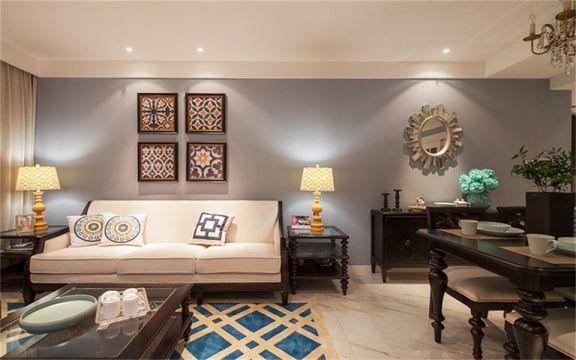95平米新古典风格两居室装修效果图