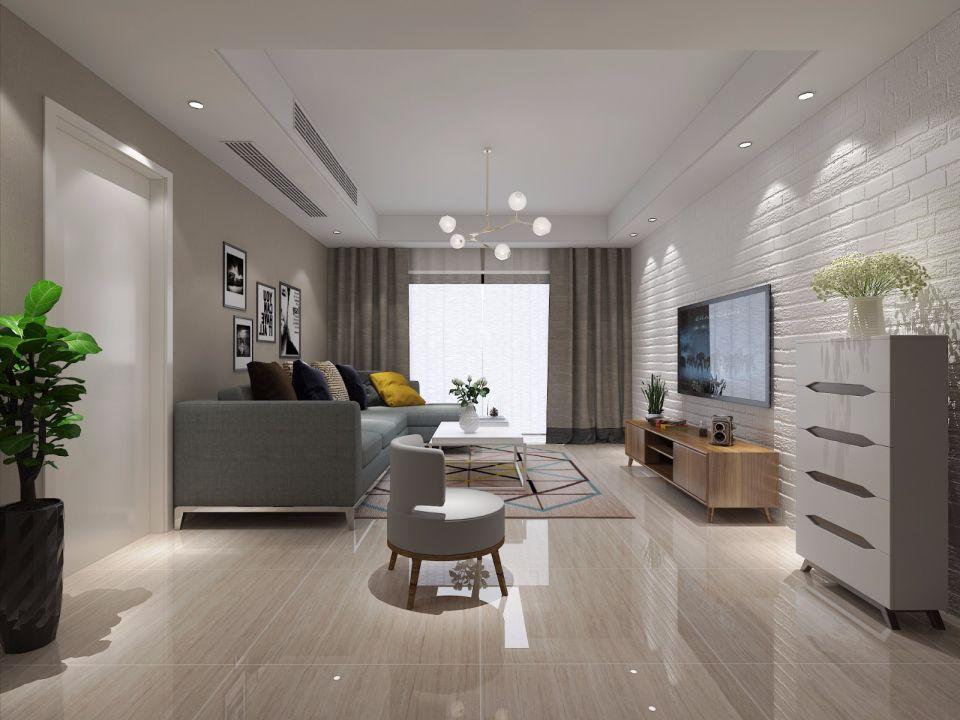 178平北欧三居室装修效果图