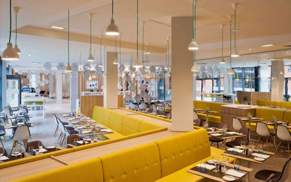 800平北欧风格阳光苑公装茶餐厅装修效果图