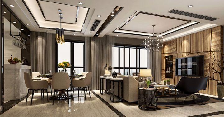 現代風格150平米三室兩廳新家裝修效果圖
