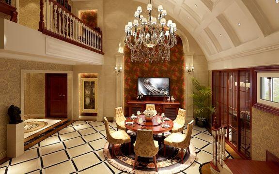 96平米复式三居室现代美式风格装修效果图