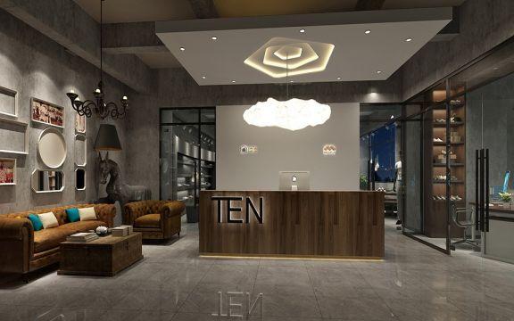 300平米工业风鞋业展厅装修效果图