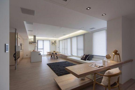 日韩风格153平4居室室内装修效果图