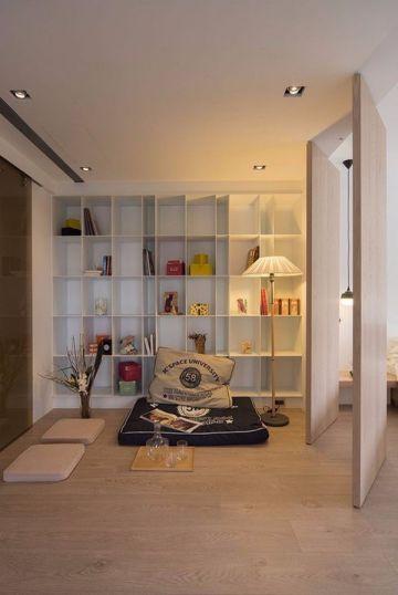起居室地板砖日式风格装饰效果图