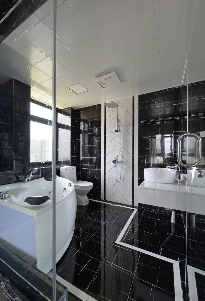 卫生间地砖现代风格装修图片
