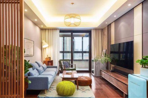 80平米混搭风格两房套房装修案例