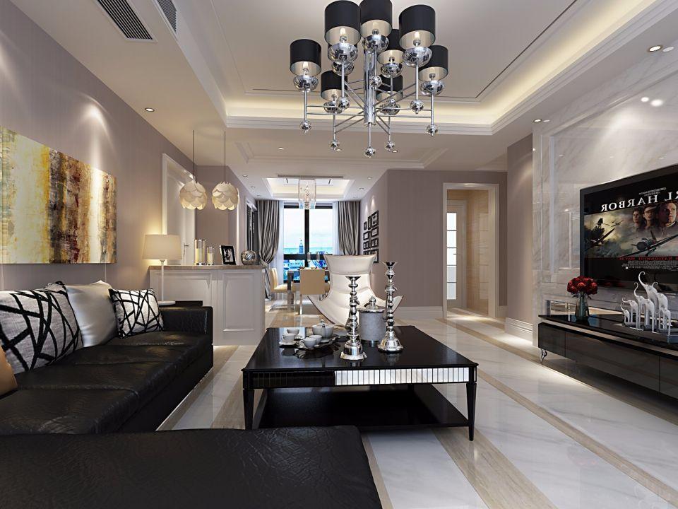 尚城国际170平现代风格套房装修效果图