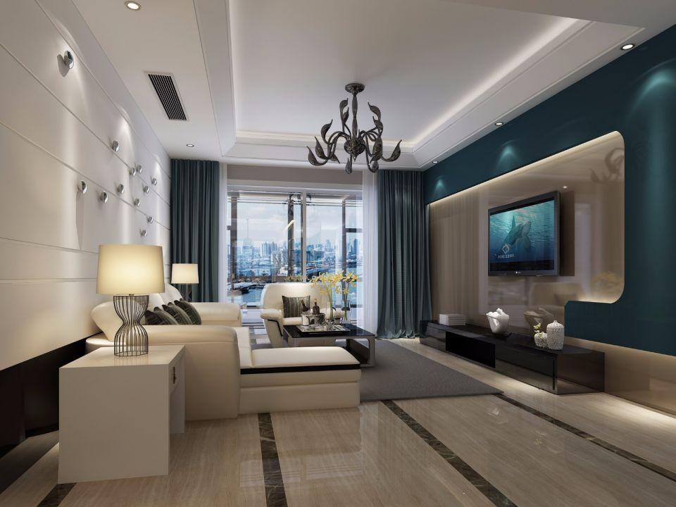 尚城国际170平后现代风格套房装修效果图
