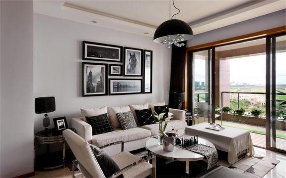 89平米现代简约风格两室两厅装修效果图