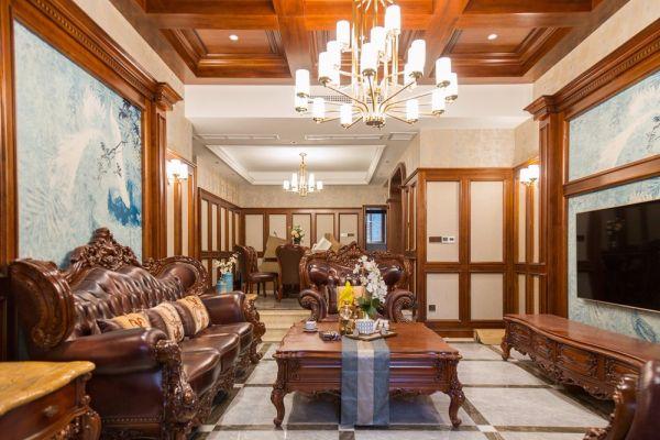重庆银翔翡翠谷|237平别墅|美式风格|实景案例图