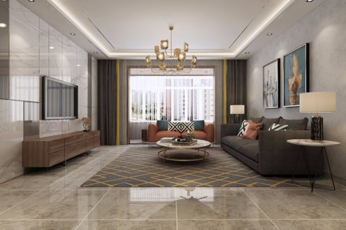现代风格120平四居室装修效果图