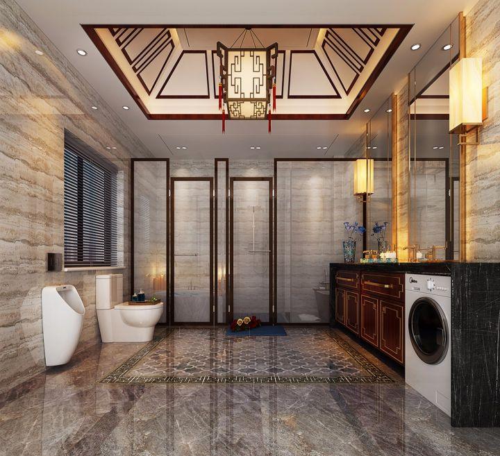 中式风格300平米四层别墅装修效果图