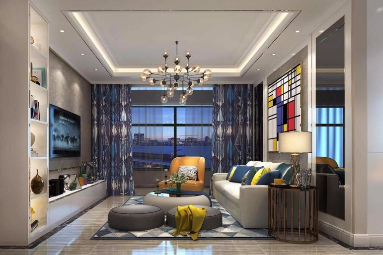 现代风格350平米别墅室内装修效果图