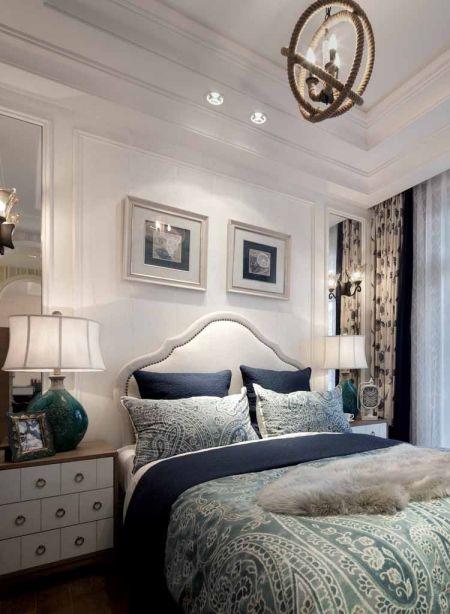 地中海风格130平米三室两厅新房装修效果图