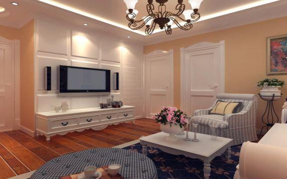 99平米欧式小两室装修效果图