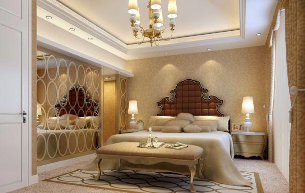 欧式风格99平米两室两厅新房装修效果图