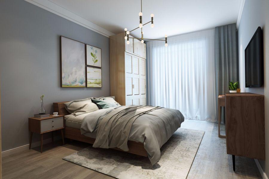 200平美式风格三居室装修效果图