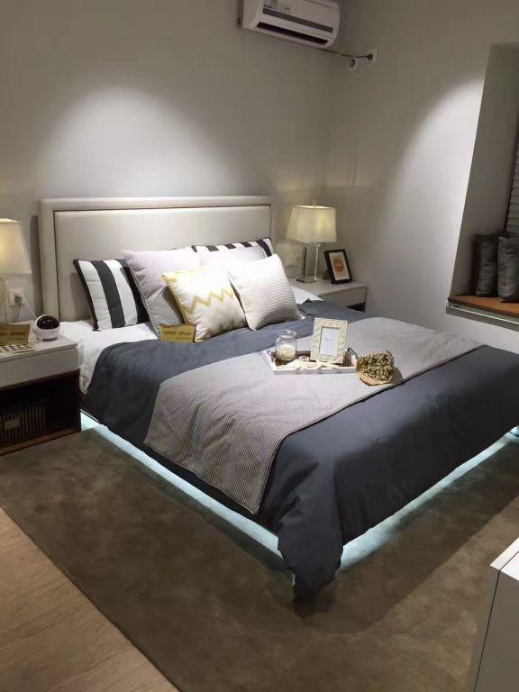 卧室白色床北欧风格装修效果图