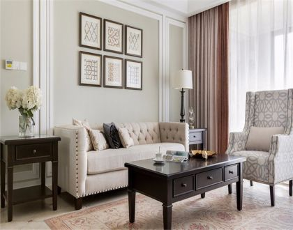 134平美式三居室装修效果图