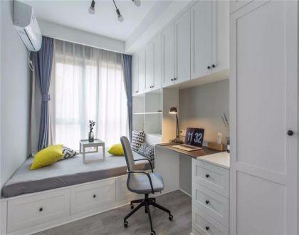 儿童房白色榻榻米北欧风格装潢设计图片