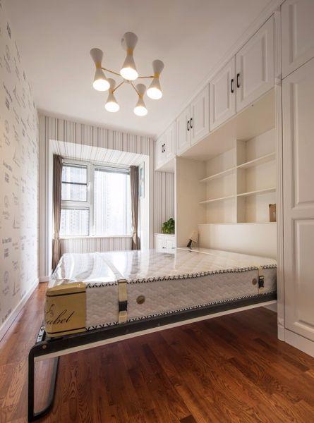 卧室咖啡色窗帘混搭风格装潢图片