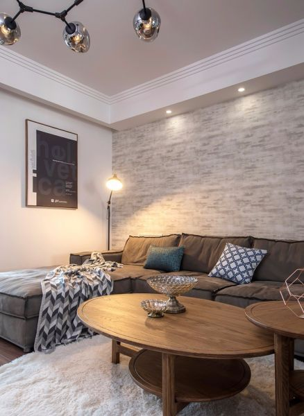客厅米色沙发现代风格装饰效果图