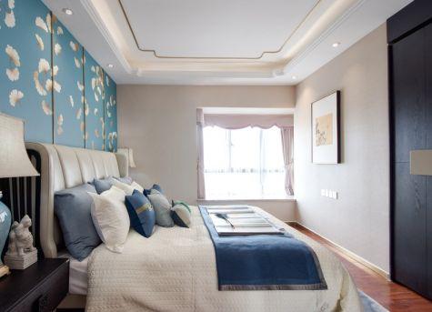 卧室白色飘窗新中式风格装饰效果图