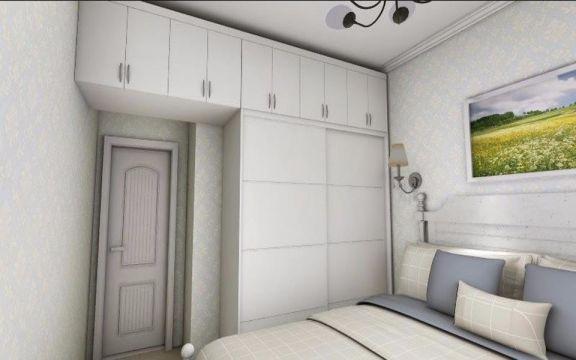 卧室白色衣柜现代风格装饰图片