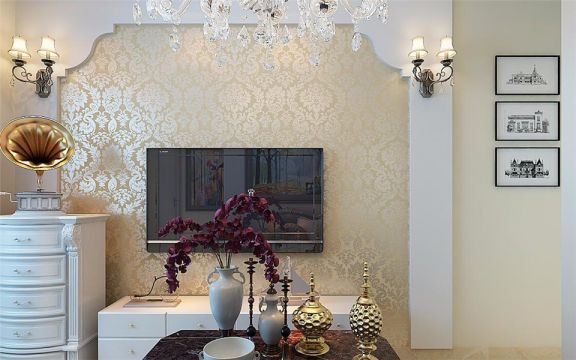 现代简约风格60平米楼房室内装修效果图