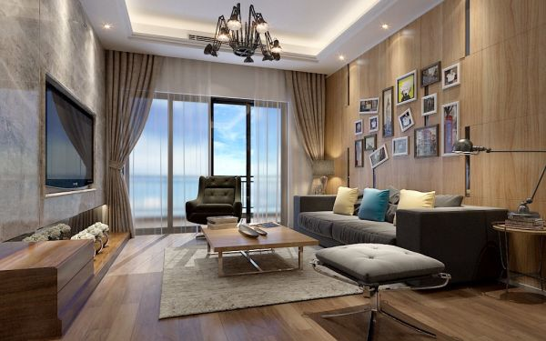 现代简约风格154平米四室两厅新房装修效果图