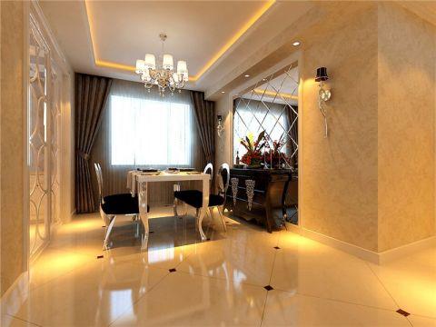 餐厅白色餐桌效果图图片