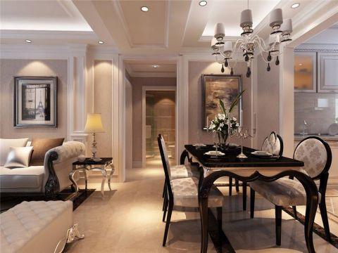 餐厅灯具现代简约装潢效果图