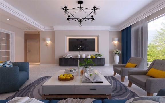 沈阳华润橡树湾130平北欧风格三居室装修案例