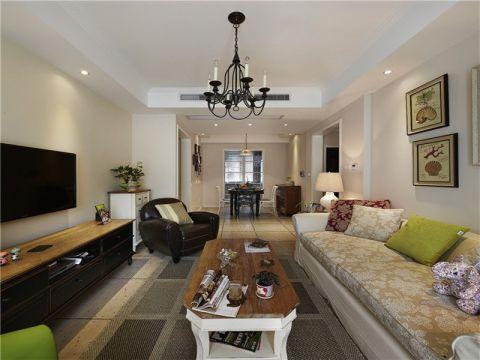 合肥高速时代城85平现代简约风格三居室装修案例