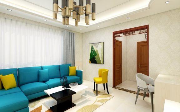 90平现代风格2卧1厅榻榻米全屋定制装修效果图