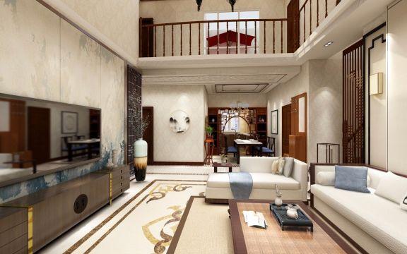 新中式风格200平米四室两厅新房装修效果图