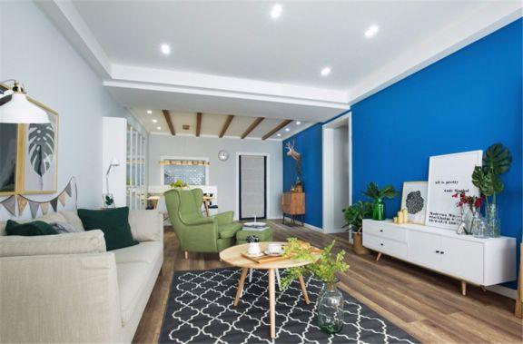 120平米北欧风格三房套房装修案例