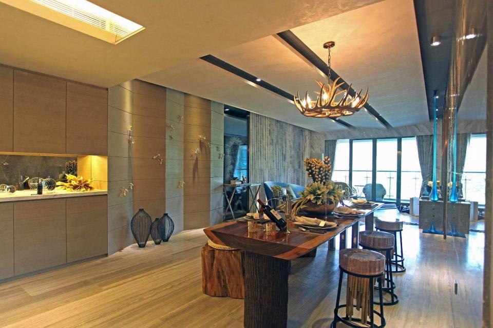 现代风格170平米套房室内装修效果图