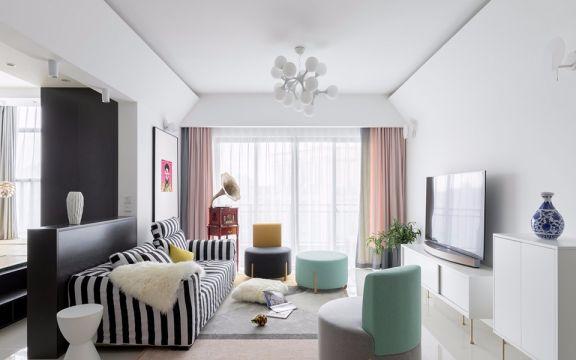 云南路小区72平方混搭风格二居室装修效果图
