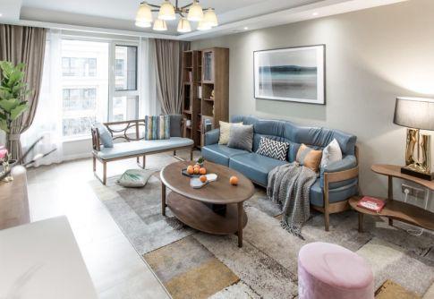 130方北欧风格二居室装修效果图