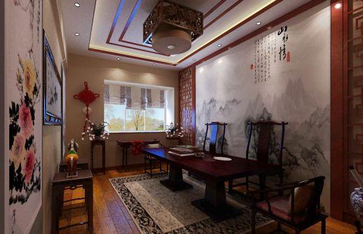 中式茶室装修效果图