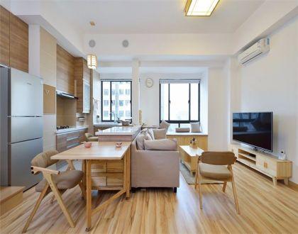 日式风格75平米两室两厅新房装修效果图