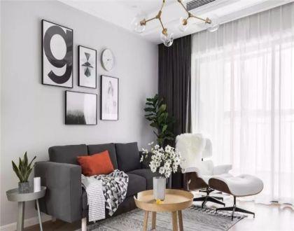 125平北欧三居室装修效果图